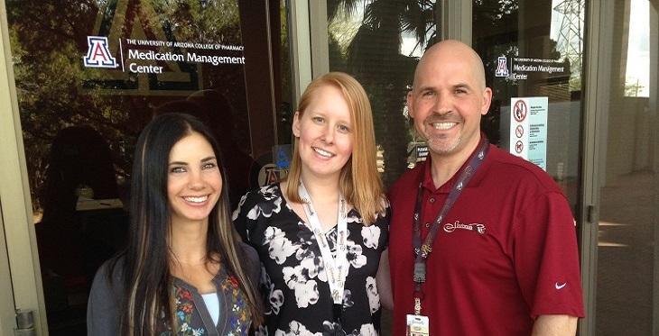 Stephanie Forbes, PharmD (left), Kate Johnson, RN, and Kevin Boesen, Pharm D.