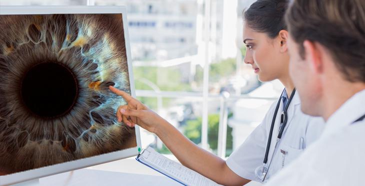 teleophthalmology - doctors performing exam